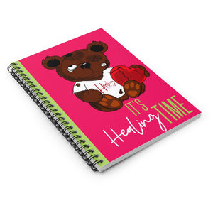 It's Healing Time Pink Spiral Notebook
