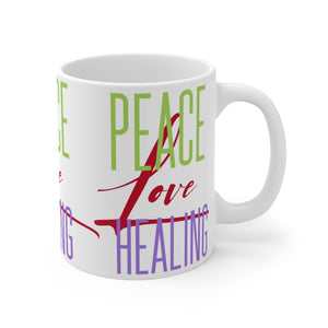 Peace Love Healing Mug 11oz