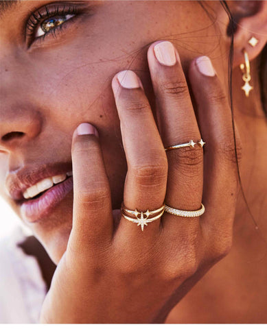 By Charlotte Gold Rings