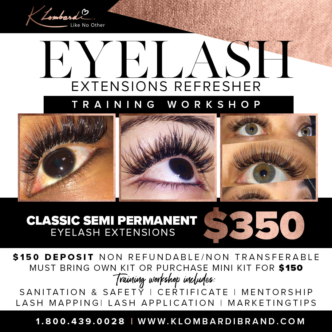 Refresher Classic Semi Permanent Eyelash Extensions Training (Deposit)