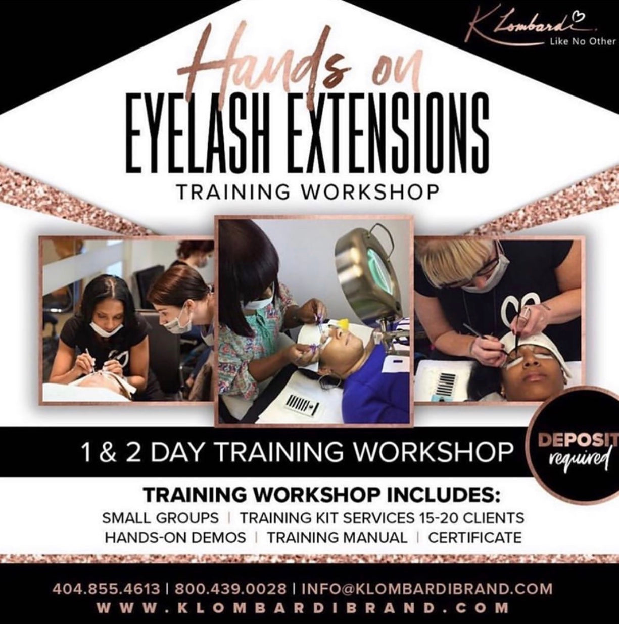 2 Day Beginners Classic Semi Permanent Eyelash Extensions Training (Deposit)