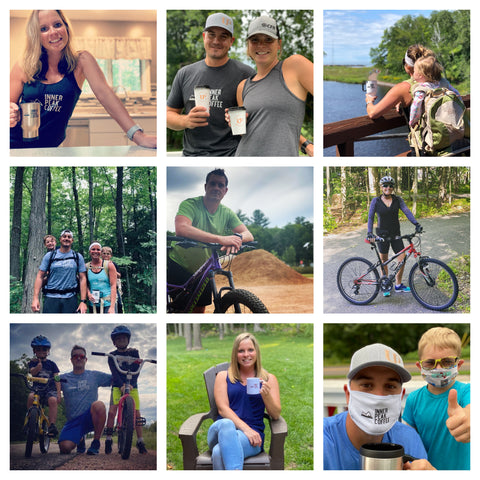 A husband and wife enjoying hiking, mountain biking, and spending time with family.