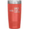 A coral 20 oz vacuum sealed double wall stainless steel tumbler