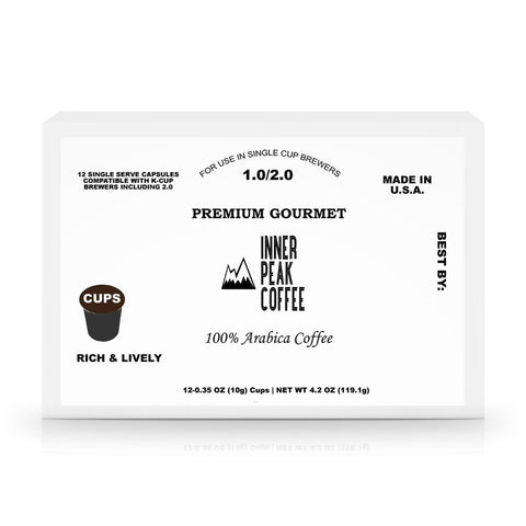 12 Pack Single Serve Coffee Capsules - Inner Peak Coffee Company