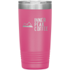 A hot pink 20 oz vacuum sealed double wall stainless steel tumbler