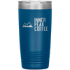 A blue 20 oz vacuum sealed double wall stainless steel tumbler