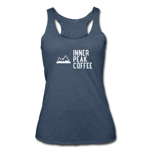 Women's Tri-Blend Racerback Tank - heather navy
