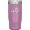 A pink 20 oz vacuum sealed double wall stainless steel tumbler