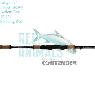 Bull Bay Assault Spinning Rod 7' Heavy 12-25#
