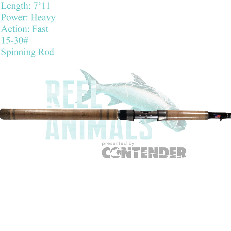 Bull Bay Reel Animals Nearshore Spinning Rod 7'11 Heavy 15-30#