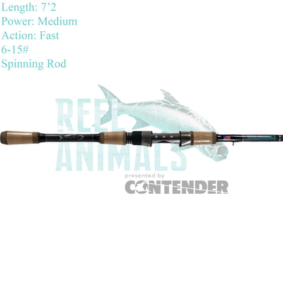Bull Bay Reel Animals Spinning Rod 7'2 Medium 6-15#