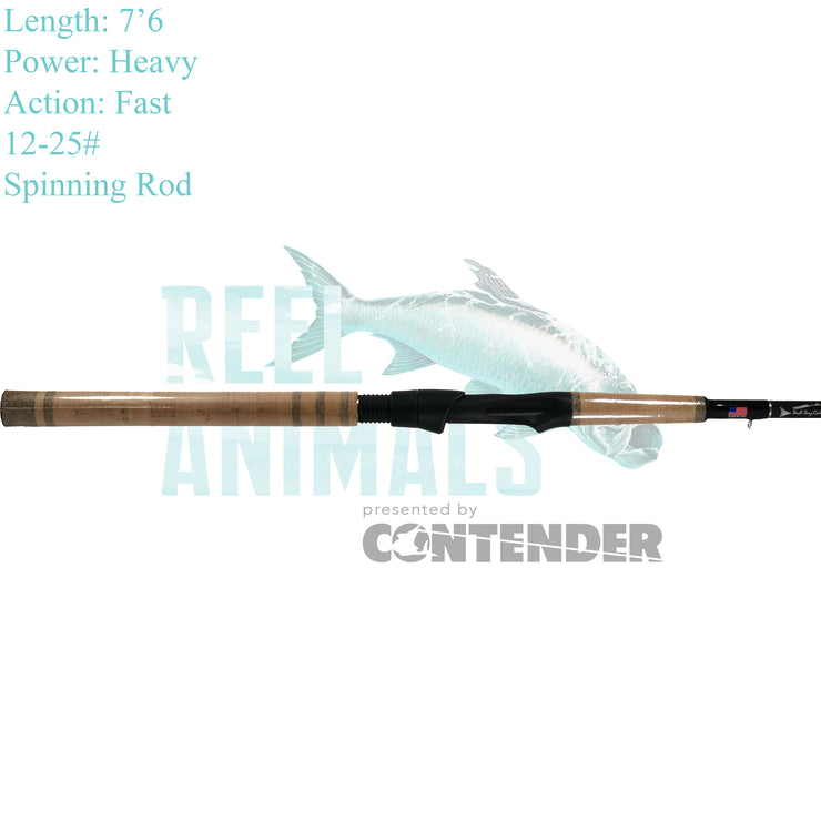 Bull Bay Sniper Big Fish Spinning Rod 7'6 Heavy 12-25#
