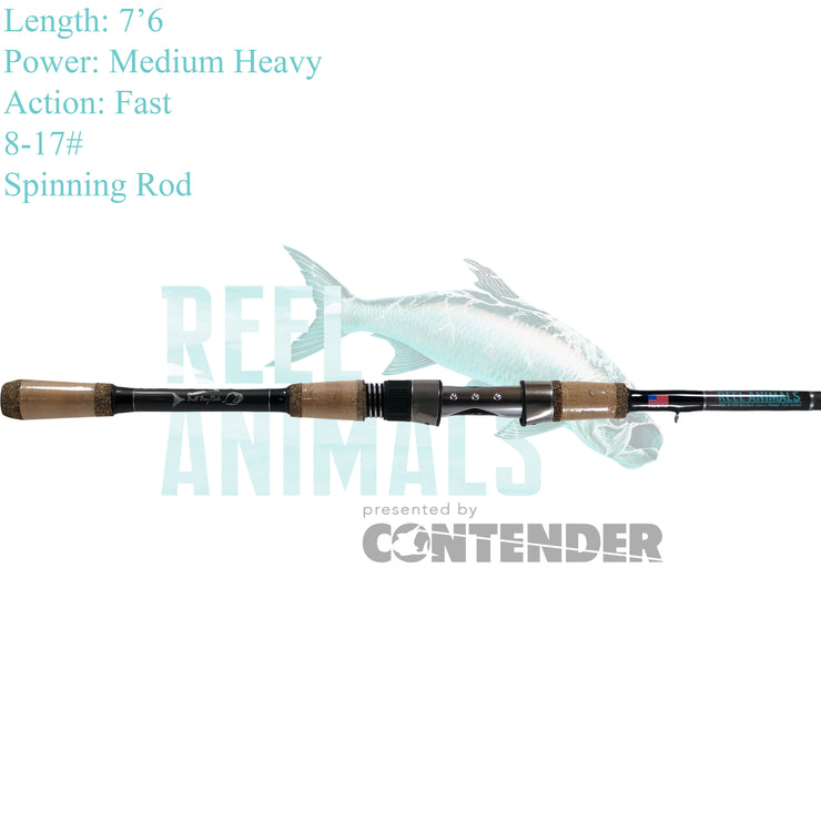 Bull Bay Reel Animals Spinning Rod 7'6 Medium 7-17#