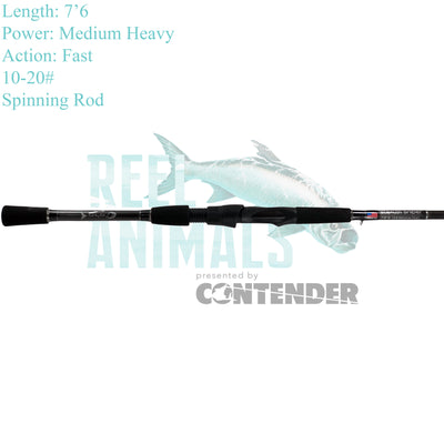 Bull Bay Stealth Sniper Spinning Rod 7'6 Medium Heavy 10-20#