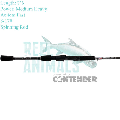 Bull Bay Stealth Sniper Spinning Rod 7'6 Medium Heavy 8-17#