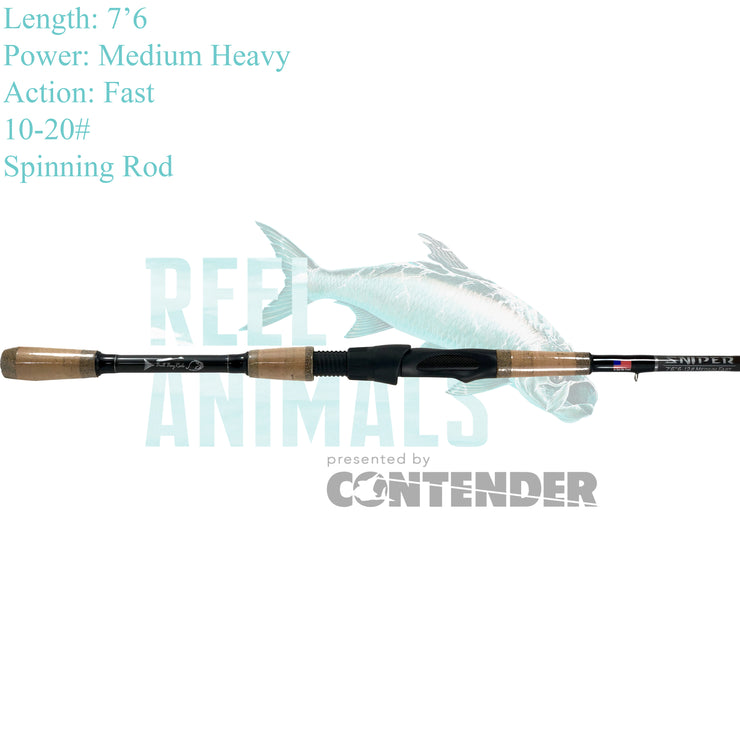 Bull Bay Sniper Spinning Rod 7'6 Medium Heavy 10-20#