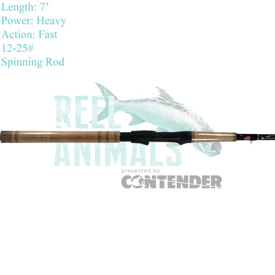 Bull Bay Sniper Big Fish Spinning Rod 7' Heavy 12-25#