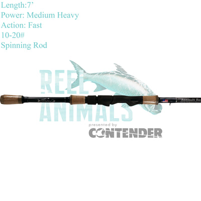 Bull Bay Assault Spinning Rod 7' Medium Heavy 10-20#