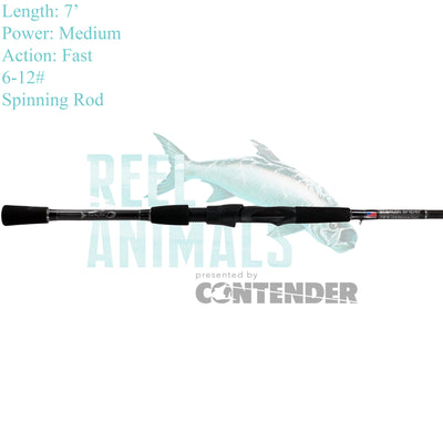 Bull Bay Stealth Sniper Spinning Rod 7' Medium 6-12#