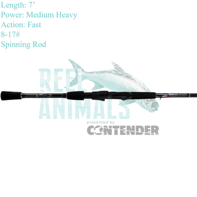 Bull Bay Stealth Sniper Spinning Rod 7' Medium Heavy 8-17#