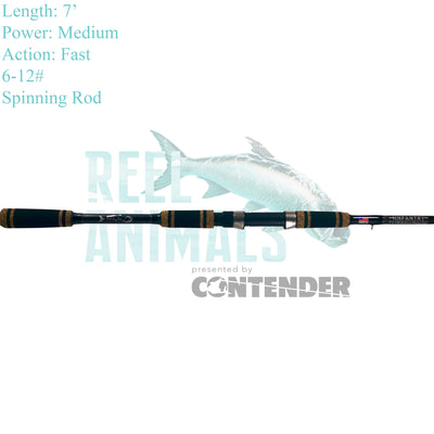Bull Bay Infantry Spinning Rod 7' Medium 6-12#