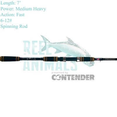 Bull Bay Infantry Spinning Rod 7'6 Medium Heavy 8-17#