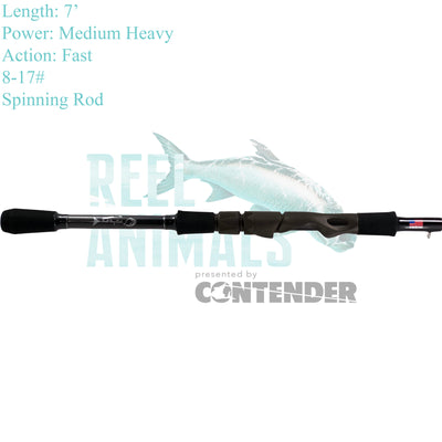 Bull Bay Assault EVA Spinning Rod 7' Medium Heavy 8-17#