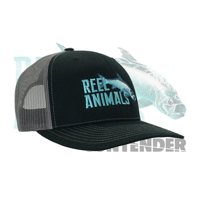 Black Reel Animals Snap Back