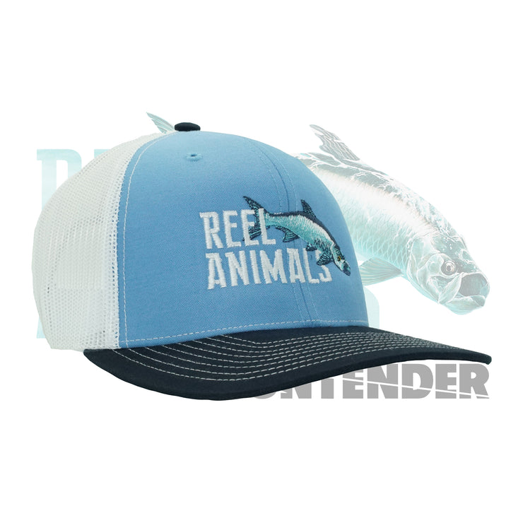 Light Blue Reel Animals Snap Back