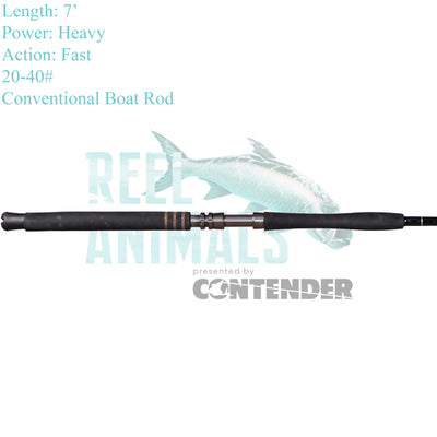 Bull Bay Brute Force Conventional Rod 7' Heavy 20-40#