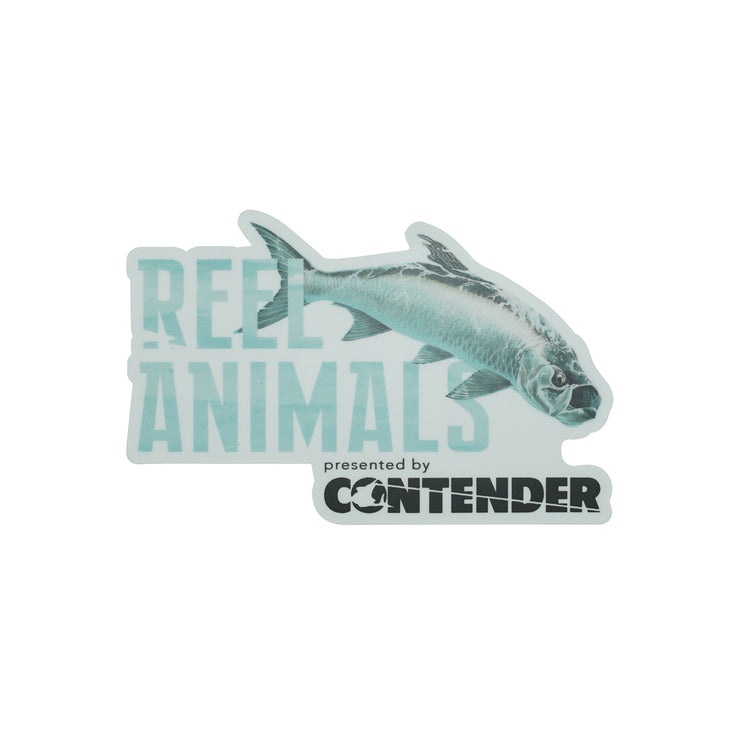 Large Reel Animals Sticker