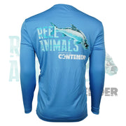Men's Light Blue Long Sleeve Fishing Shirt