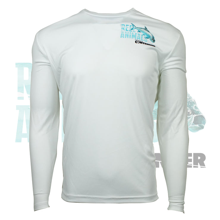 Men's White Long Sleeve Fishing Shirt