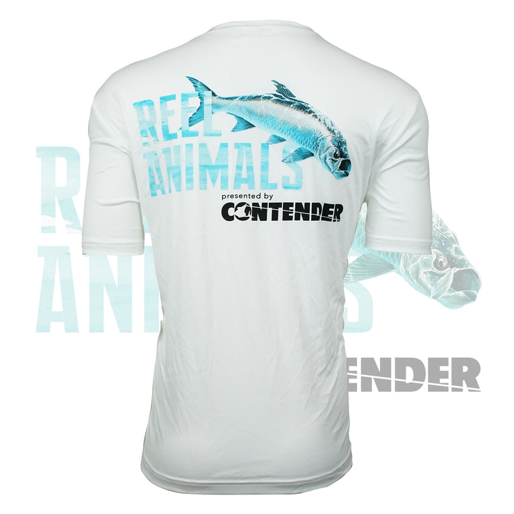 Men's White Short Sleeve Fishing Shirt