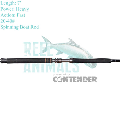 Bull Bay Brute Force Spinning Rod 7' Heavy 20-40#