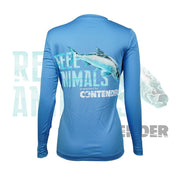 Women's Light Blue Long Sleeve Fishing Shirt