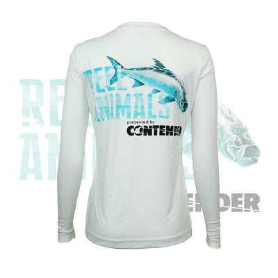 Women's White Long Sleeve Fishing Shirt