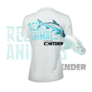 Women's White Short Sleeve Fishing Shirt