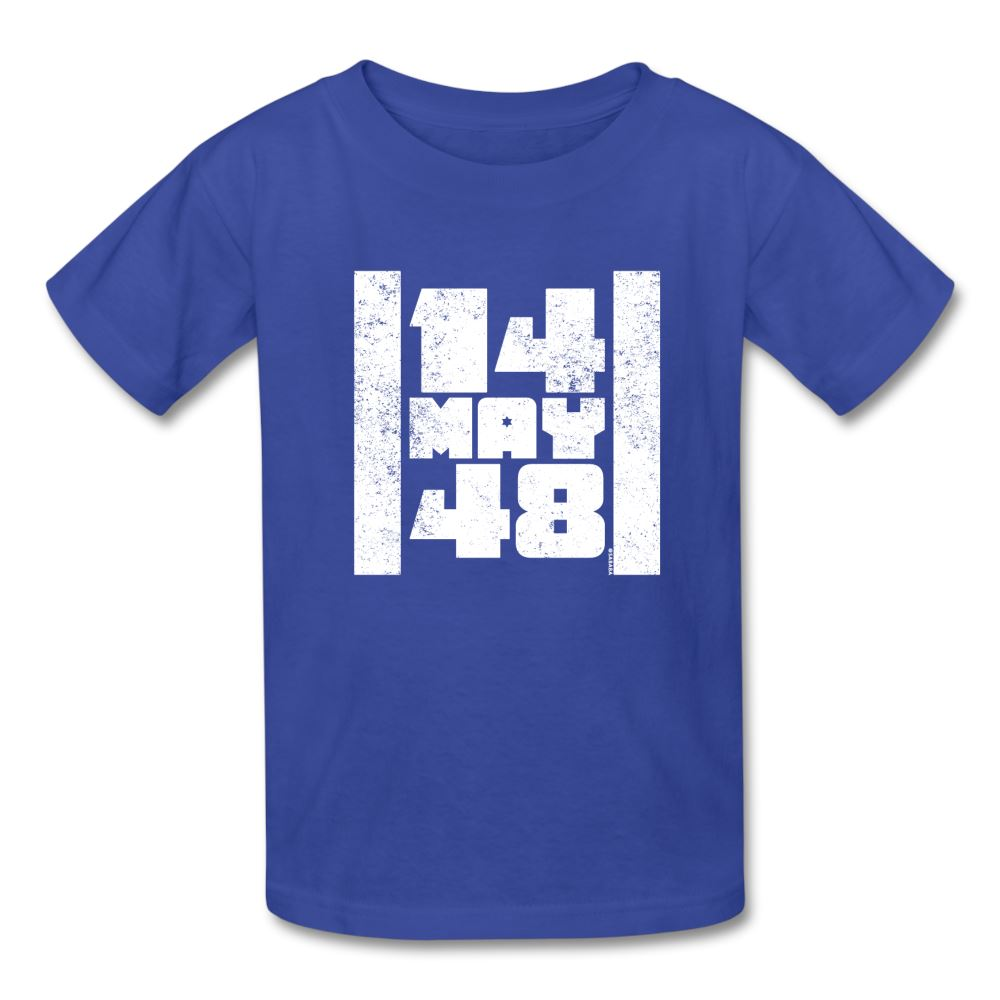 14 May 48 Israel Flag Kids' T-Shirt - royal blue