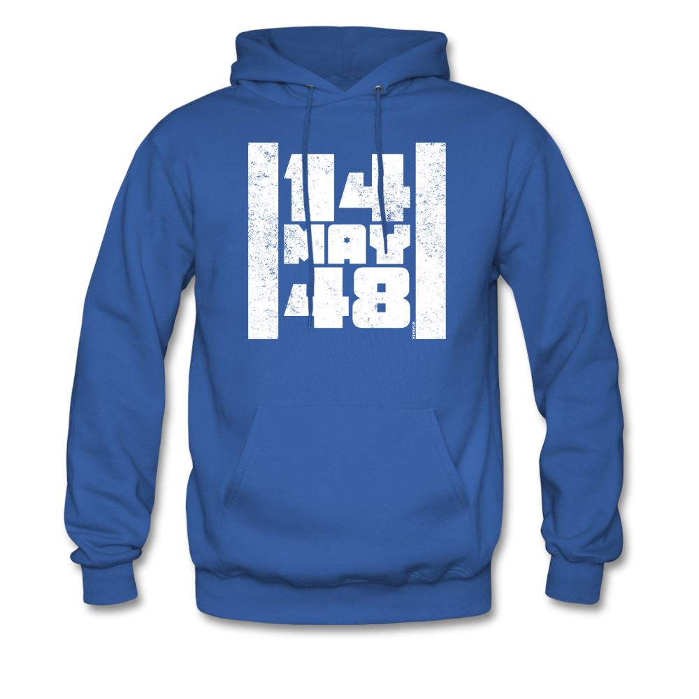 14 May 48 Israel Flag Men's Hoodie - royal blue