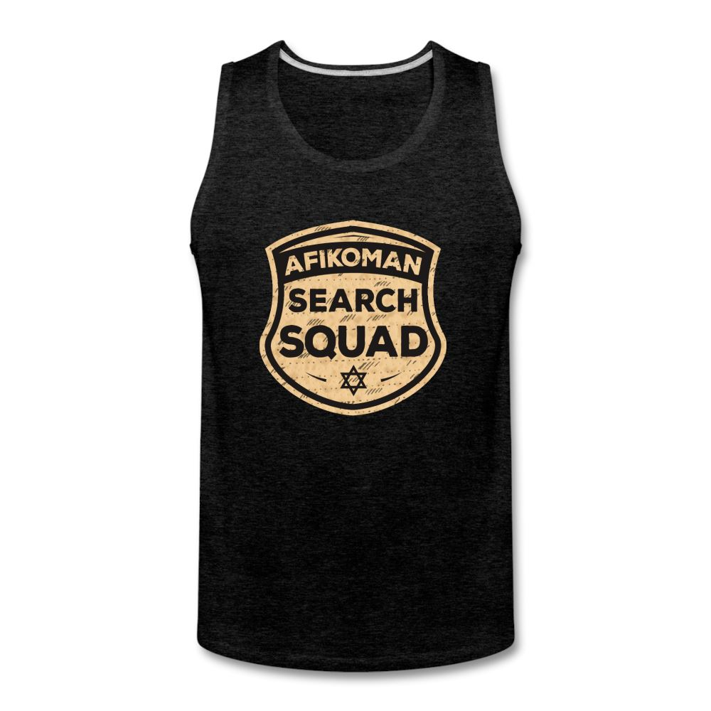 AFIKOMEN SEARCH SQUAD Men's Premium Tank - charcoal gray