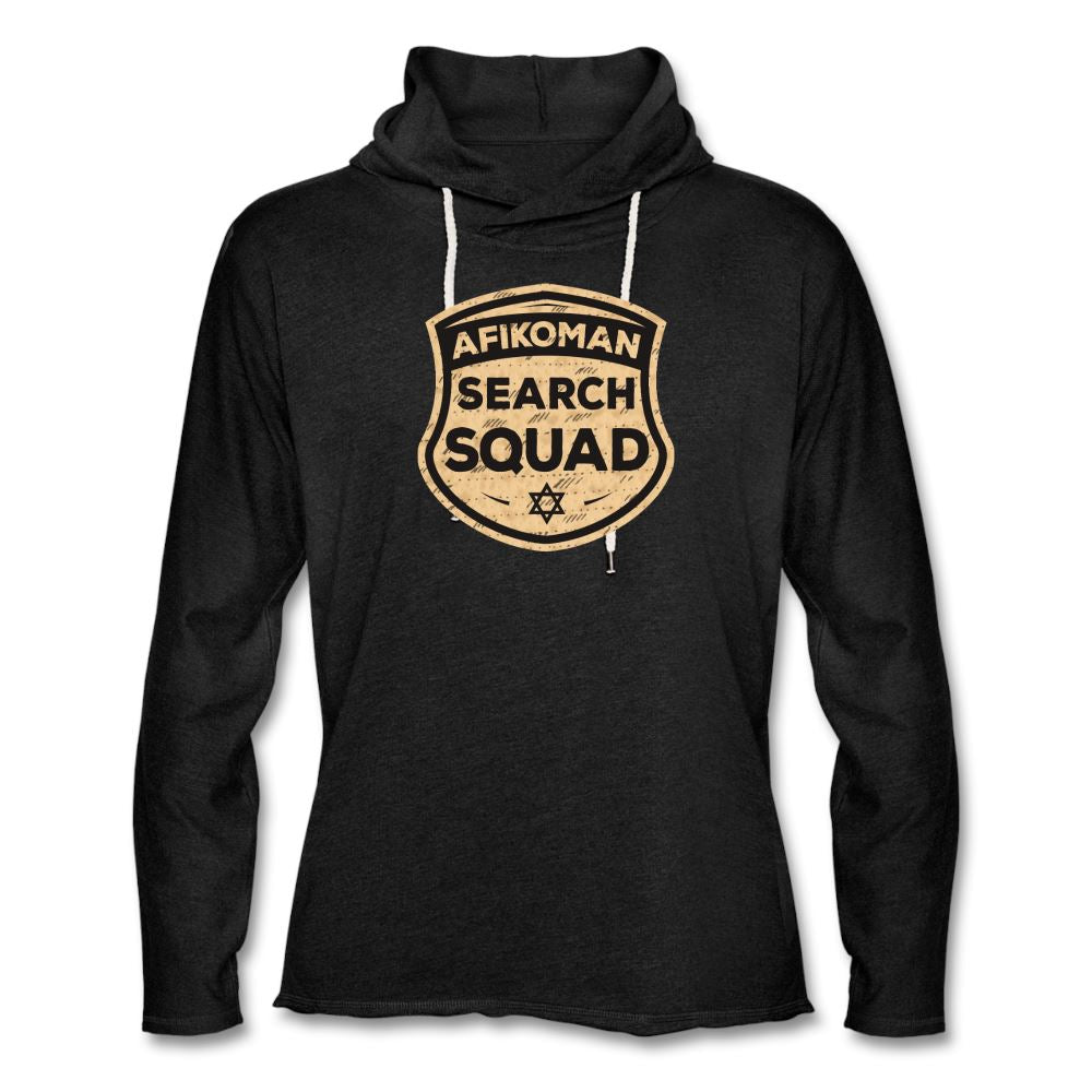 AFIKOMEN SEARCH SQUAD Unisex Lightweight Terry Hoodie - charcoal gray