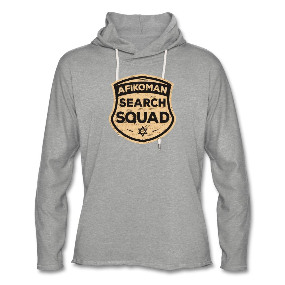AFIKOMEN SEARCH SQUAD Unisex Lightweight Terry Hoodie - heather gray