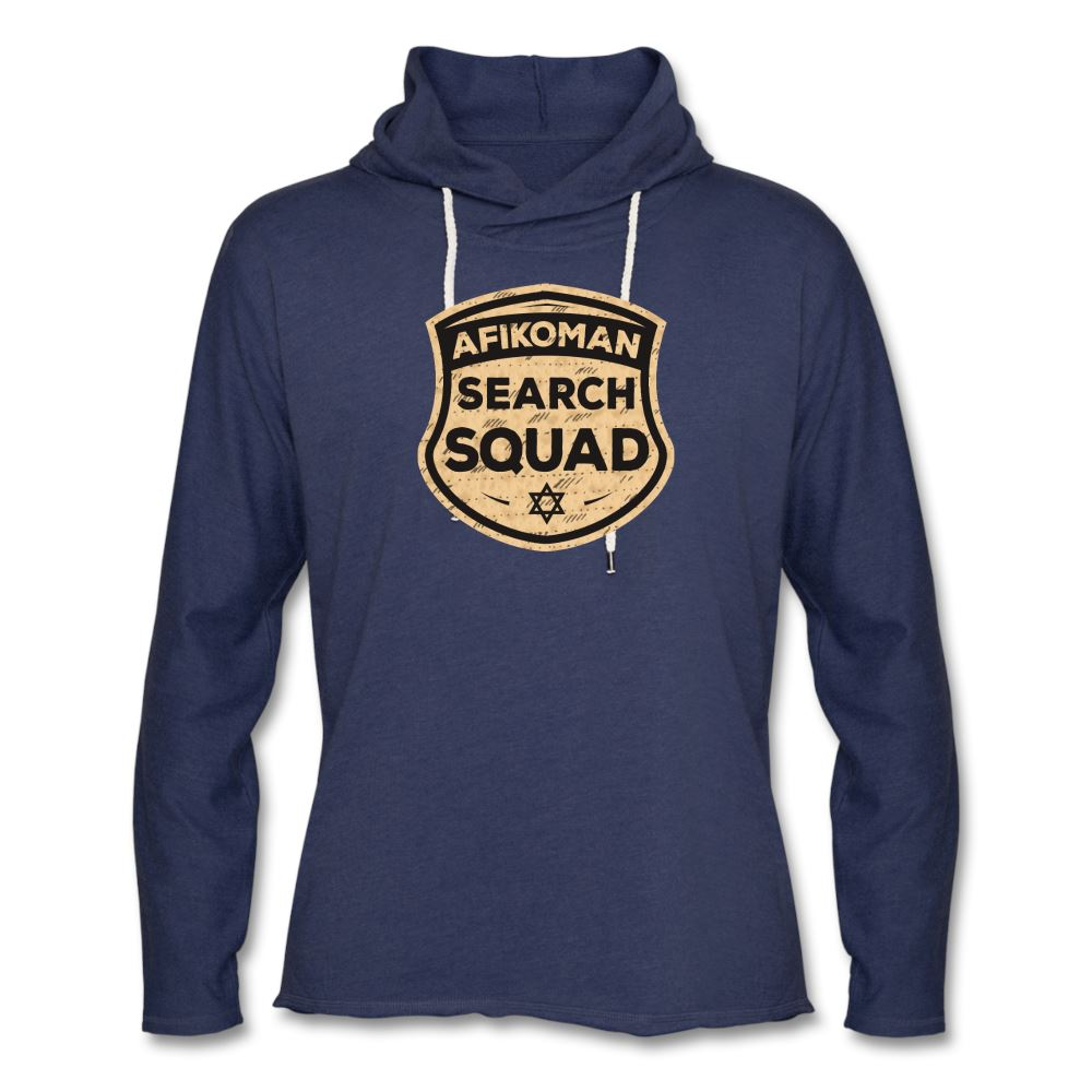 AFIKOMEN SEARCH SQUAD Unisex Lightweight Terry Hoodie - heather navy