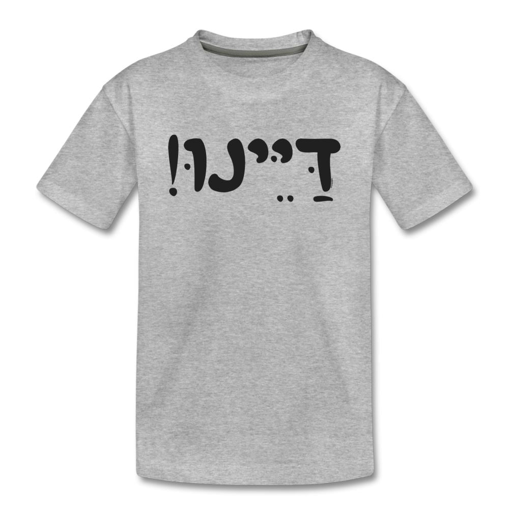 Dayenu Hebrew Kids' Premium T-Shirt - heather gray
