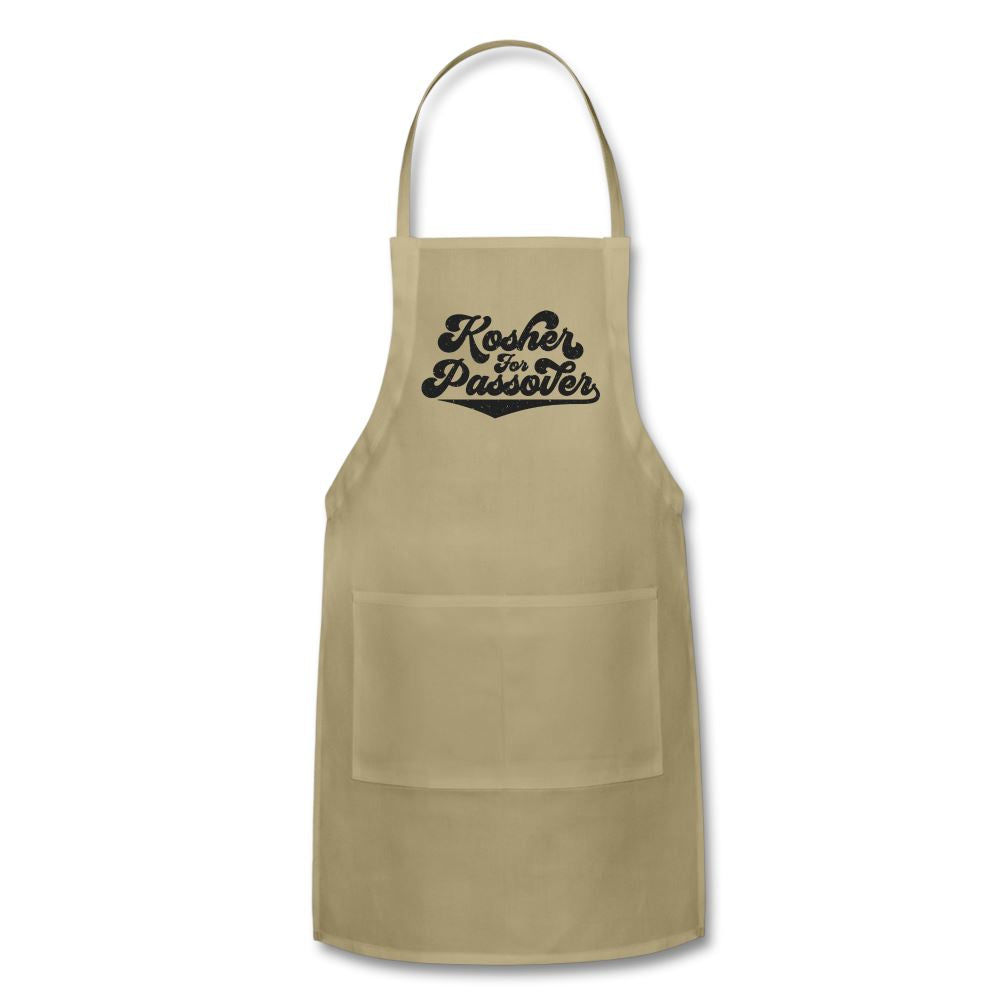 Kosher for Passover Adjustable Apron - khaki