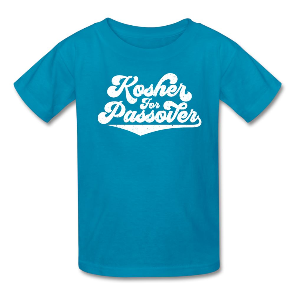 KOSHER FOR PASSOVER Kids' T-Shirt - turquoise