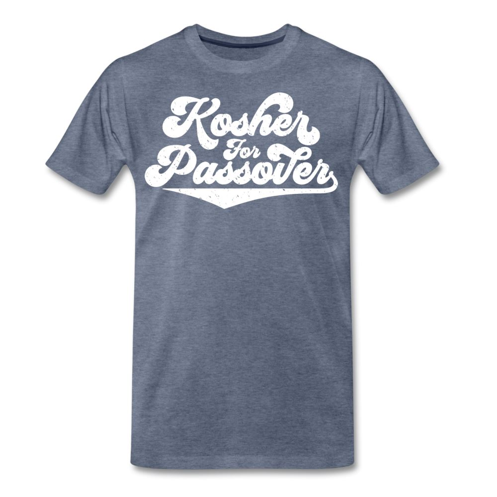 Kosher for Passover Men's Premium T-Shirt - heather blue