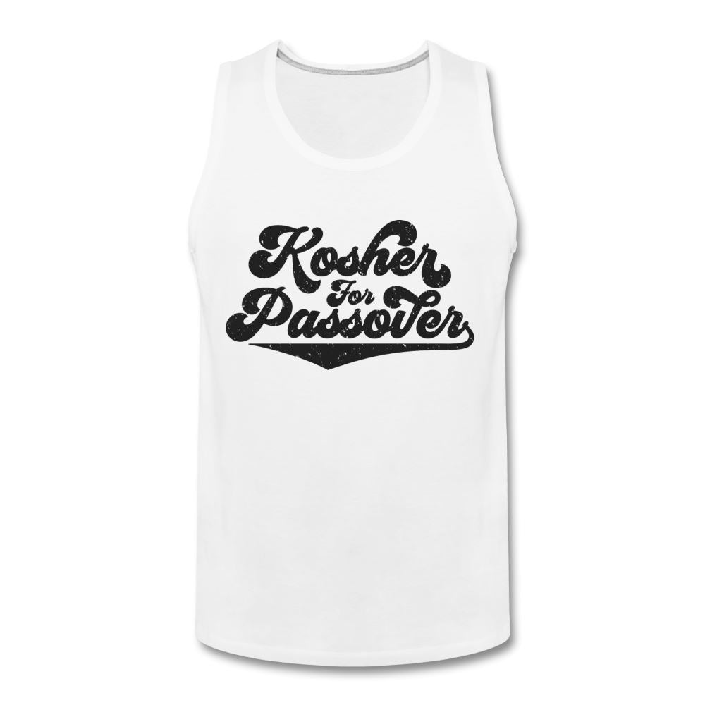 KOSHER FOR PASSOVER Men's Premium Tank - white