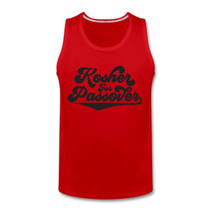KOSHER FOR PASSOVER Men's Premium Tank - red